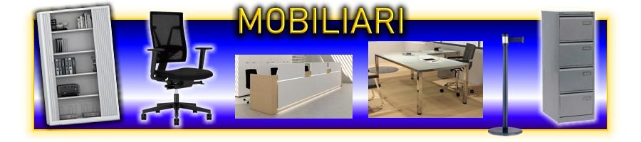 Mobiliari d'oficina. taules, armaris, calaixeres. çper l'oficina, l'aula, sala de juntes i reunions. Mobiliari metàl·lics: Armaris, arxivadors, calaixeres.