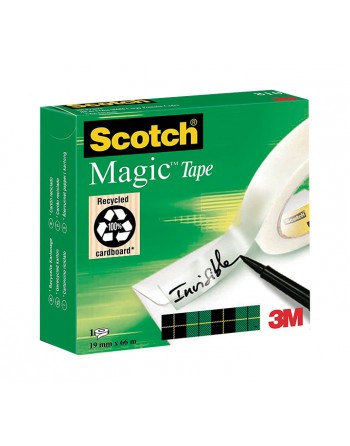 SCOTCH CINTA ADHESIVA MAGIC 810 19MMX66M - 810/1966