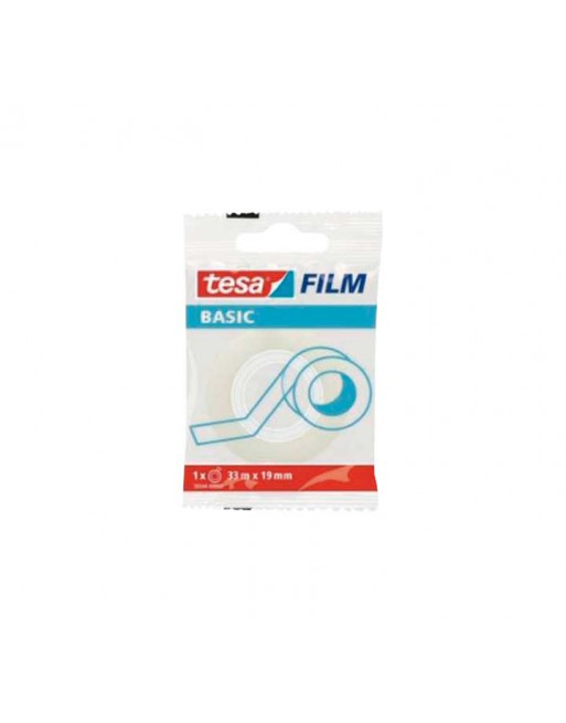 TESA CINTA ADHESIVA FILM BASIC TRANS. 33MX19MM - 58544-00000-00