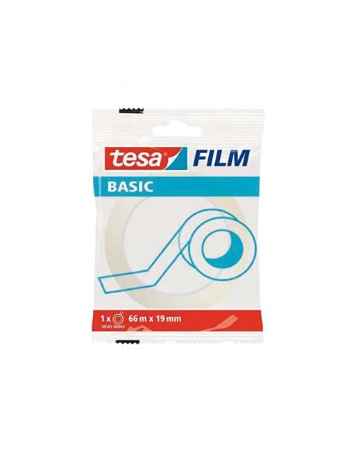 TESA CINTA ADHESIVA FILM BASIC TRANS. 66MX19MM - 58545-00000-00