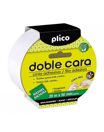 PLICO CINTA ADHESIVA DOBLE CARA 50MMX20M - 13321