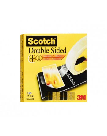 SCOTCH CINTA DOBLE CARA 19MMX3 PERMANENTE 665/3319