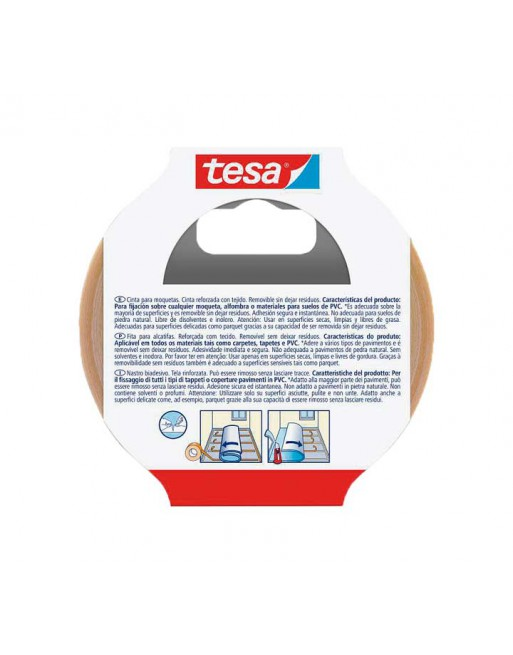 TESA CINTA ADHESIVA REMOVIBLE MOQUETAS 50MMX10M BLANCO - 55731-00016-11