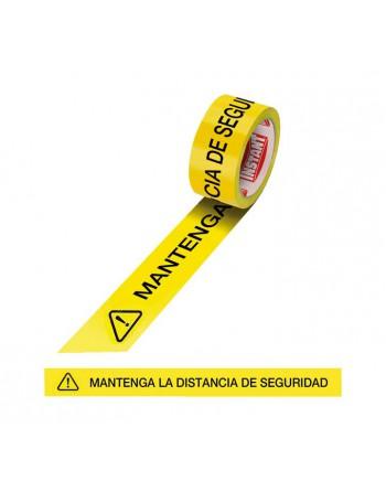 INSTANT CINTA ADHESIVA *MANTENGA LA DISTANCIA DE SEGURIDAD* 48MM. X 30M. 63151