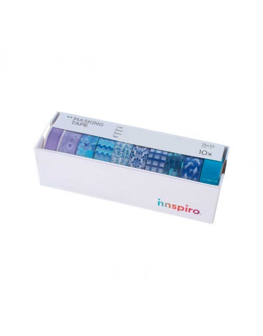 INNSPIRO SET 10 CINTA WASHI TAPE ULTRAMAR SURTIDO - 17512