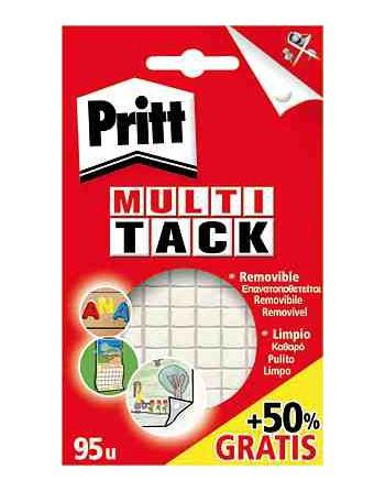 PRITT PACK 65 MASILLAS ADHESIVA MULTI-TACK BLANCA - 1444966