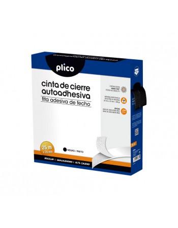 PLICO CREMALLERA TEXTIL VELCRO AUTOADHESIVA 25M NEGRO - 13331