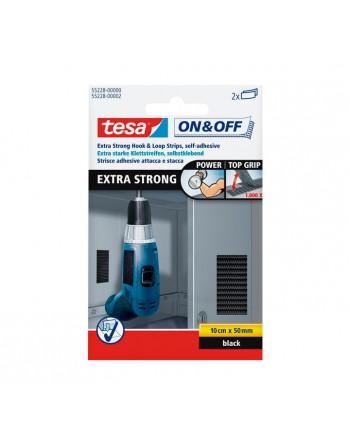 TESA 2 TIRAS EXTRA FUERTE 50MMX10CM NEGRO - 55228-00000-02