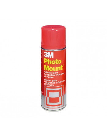 3M ADHESIVO SPRAY PHOTO MOUNT 400ML-ESPIRAL P-M - 3M Photo Mount