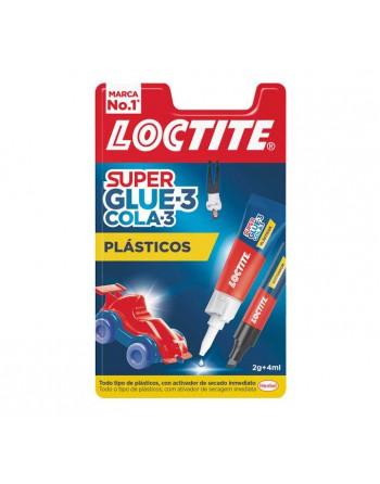LOCTITE BLÍSTER PEGAMENTO SUPER GLUE-3 PLÁSTICOS DIFÍCILES 2GR+4ML 2067172