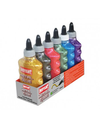 INSTANT 6U COLA METALIZADA COLOR SURTIDO 180ML - 14871