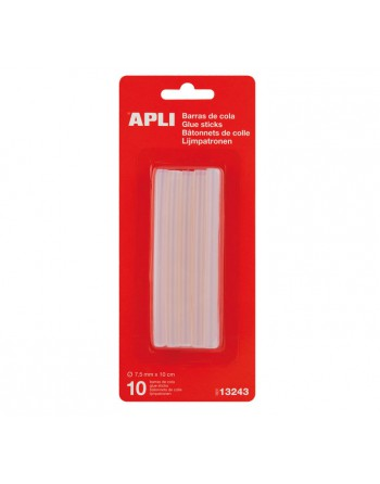 APLI BLISTER 10U RECAMBIO BARRAS COLA 7.5MM - 13243