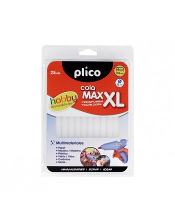 PLICO BLISTER 25 BARRITAS MAX-XL COLA 12MM - 1644