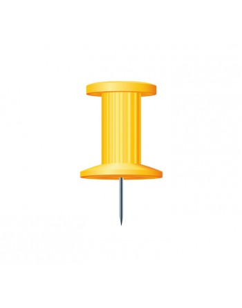 EXACOMPTA 25 AGUJAS PUSH PINS 10MM AMARILLO - 14703E