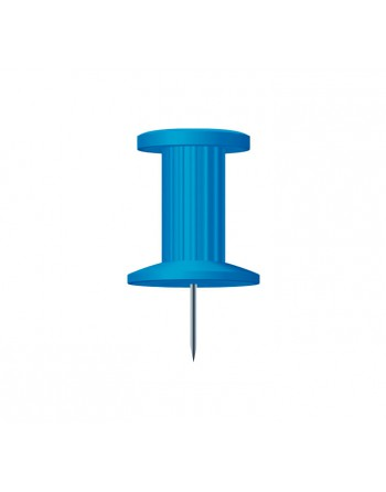 EXACOMPTA 25 AGUJAS PUSH PINS 10MM AZUL CLARO - 14702E