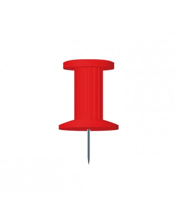 EXACOMPTA 25 AGUJAS PUSH PINS 10MM ROJO - 14704E