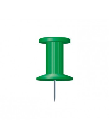 EXACOMPTA 25 AGUJAS PUSH PINS 10MM VERDE - 14705E
