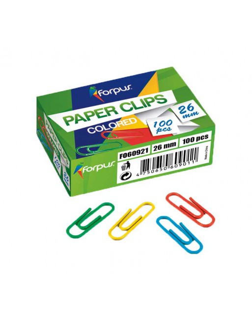FORPUS 100 CLIPS 26MM COLORES - FO60921