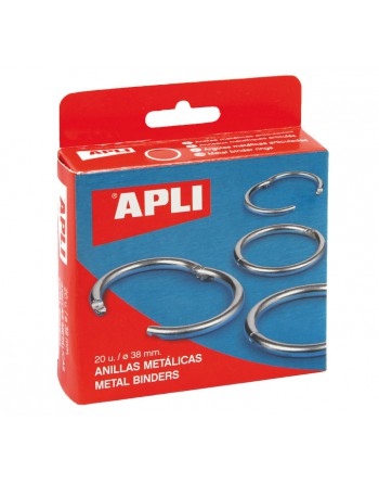 APLI 20 ANILLAS METALICAS 32MM 00 - 453