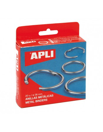 APLI 20U ANILLAS METALICAS 20MM 00 - 451