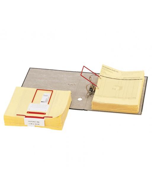 ELBA PACK 100 D-CLIP STANDARD ROJO - 100580277