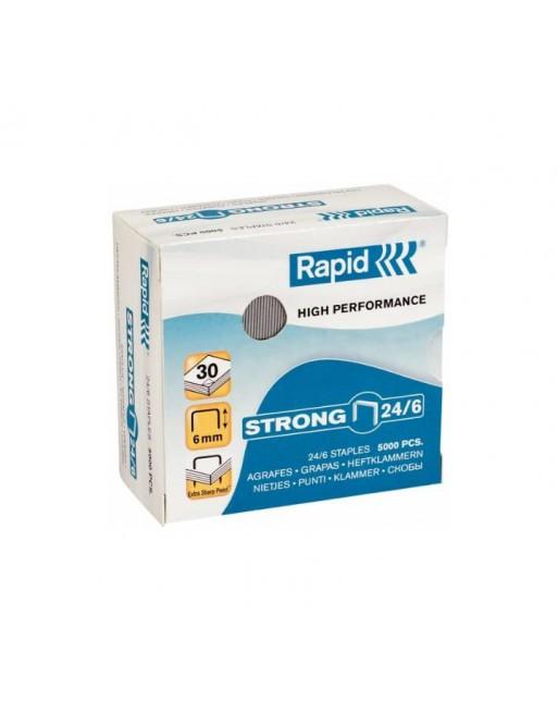 RAPID 5000 GRAPAS 26/6 STRONG NEGRO GALVANIZADO - 24862000
