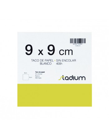 STADIUM TACO 400H NO ENCOLADO BLANCO 90X90MM - 26-024