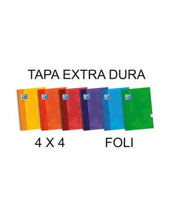 OXFORD CUADERNO SCHOOL FOLIO 80H.4X4 TAPA EXTRADURA SURTIDO - 100430160