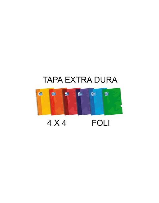 OXFORD CUADERNO SCHOOL FOLIO 80H.4X4 TAPA EXTRADURA ST - 100430160