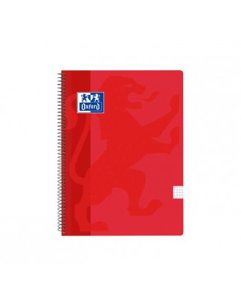 OXFORD CUADERNO SCHOOL FOLIO 80H 5X5 ROJO - 400121818