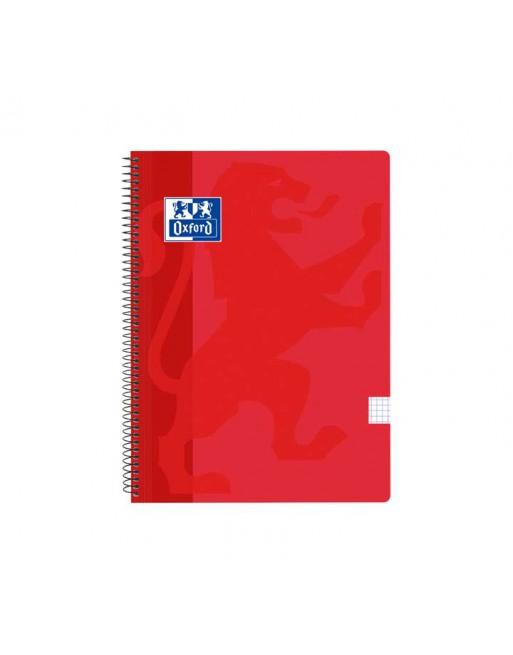 OXFORD CUADERNO SCHOOL FOLIO 80H 5X5 ROJO - 400121818