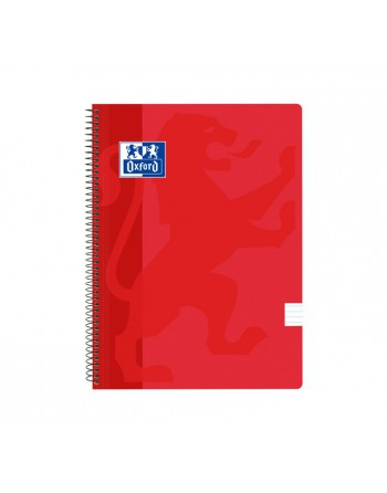 OXFORD CUADERNO SCHOOL FOLIO 80H HZTL ROJO - 400112798