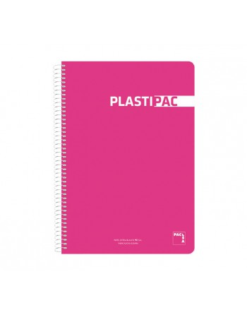 PACSA CUADERNO PLASTIPAC 4º 80H 90G PAUTA 2.5 TAPA DE PLASTICO SURTIDO - 16570