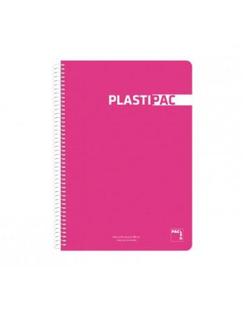 PACSA CUADERNO PLASTIPAC 4º 80H 90GM 3X3 TAPA DE PLASTICO SURTIDO - 16574