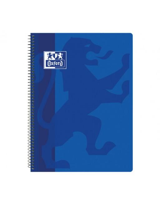 OXFORD CUADERNO SCHOOL CLASSIC TAPA PLASTICO FOLIO 80H 4X4 AZUL MAR - 400093618