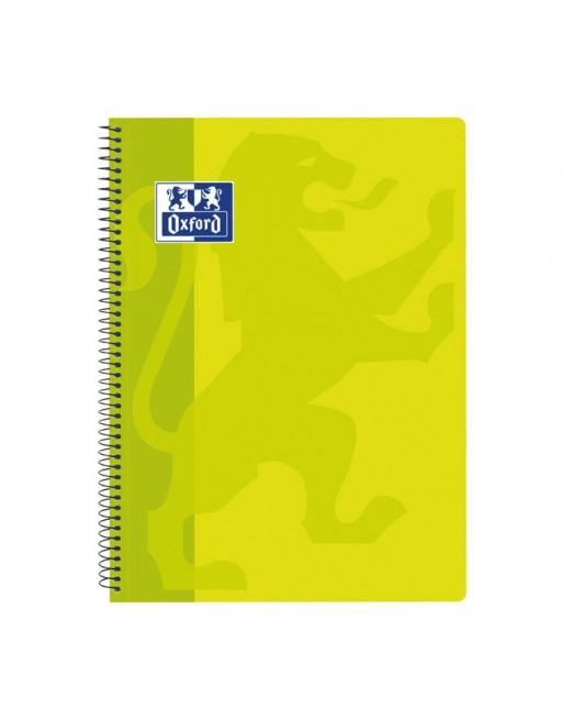 OXFORD CUADERNO SCHOOL CLASSIC TAPA PLASTICO FOLIO 80H 4X4 LIMA - 400093619