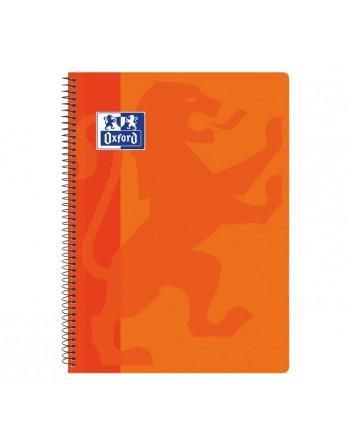 OXFORD CUADERNO SCHOOL CLASSIC TAPA PLASTICO FOLIO 80H 4X4 NARANJA - 400079665