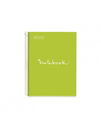 M.RIUS NOTEBOOK 1 ESPIRAL HORIZONTAL A4 80H EMOTIONS LIMA - 49936