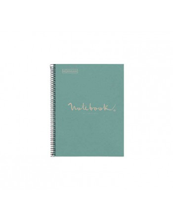 M.RIUS NOTEBOOK 1 TAPA DURA 5X5 A4 80H ECO EMOTIONS AZUL - 6092
