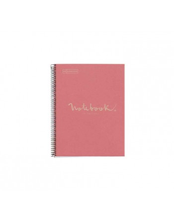 M.RIUS NOTEBOOK 1 TAPA DURA 5X5 A4 80H ECO EMOTIONS ROSA - 6093