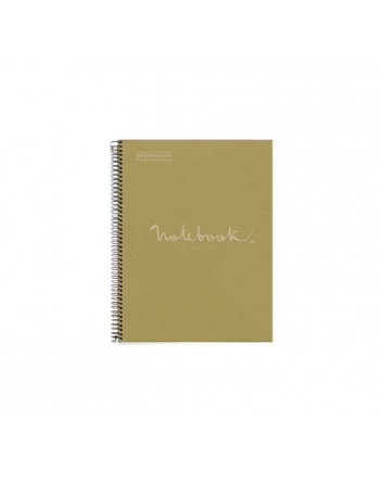 M.RIUS NOTEBOOK 1 TAPA DURA 5X5 A4 80H ECO EMOTIONS VERDE - 6091