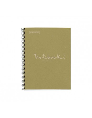 M.RIUS NOTEBOOK 1 HORIZONTAL A4 80H ECO EMOTIONS VERDE - 6095