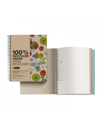 M.RIUS NOTEBOOK 4 ECOBIRDS A4 5X5 120H - 2459