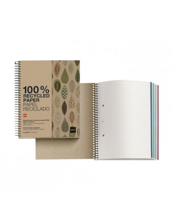 M.RIUS NOTEBOOK 4 ECOHOJAS A4 5X5 120H - 2870