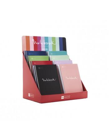 M.RIUS CUADERNO NOTEBOOK 6 A4 150H 70GR 5X5 TAPA EXTRADURA BASIC PLATA - 47148