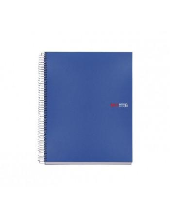 M.RIUS CUADERNO NOTEBOOK 8 A4 200H 70GR 5X5 TAPA PLASTICO AZUL - 42004