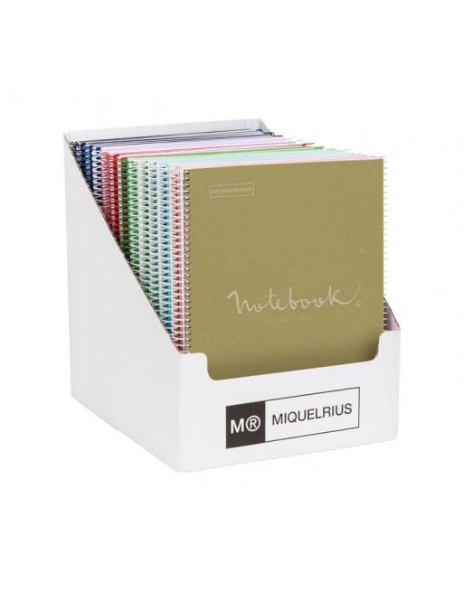 MIQUEL RIUS EXPOSITOR 30 NOTEBOOK 1 A4 80 HOJAS CUADRICULA 5x5 DE 80 GR. EMOTIONS ECO 6100