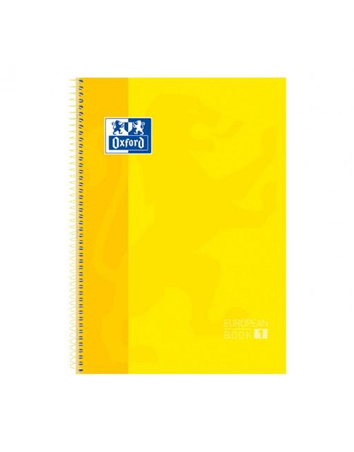 OXFORD CUADERNO EUROBOOK1 A4 80H 5X5 90GR TAPA EXTRADURA AMARILLO - 100430200