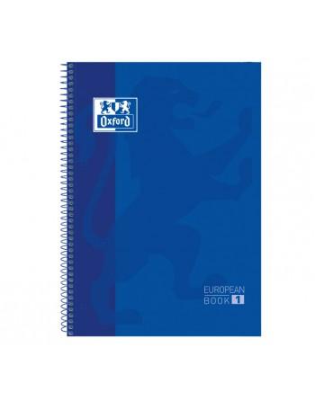 OXFORD CUADERNO EUROBOOK1 A4 80H 5X5 90GR TAPA EXTRADURA AZUL - 100430197