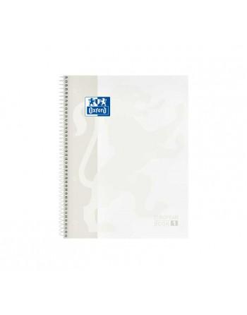 OXFORD CUADERNO EUROBOOK1 A4 80H 5X5 90GR TAPA EXTRADURA BLANCO - 400117449